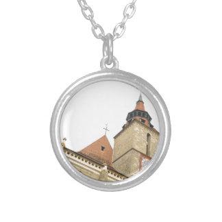 Black church in Brasov, Romania Silver Plated Necklace