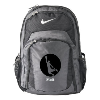 Black Circle Basketball Player Personalized Backpack