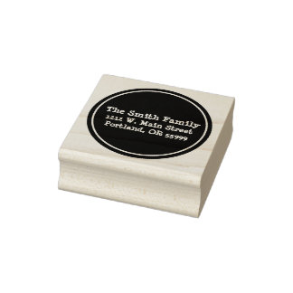 Black circle custom stamp