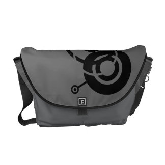 Black Circles Messenger Bag