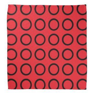 Black Circles Red Bandana
