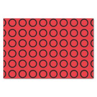 Black Circles Red Tissue Paper