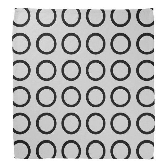 Black Circles Silver Bandana