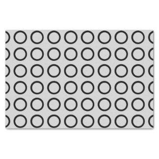 Black Circles Silver Tissue Paper