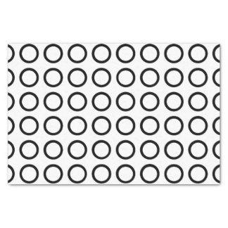 Black Circles Tissue Paper