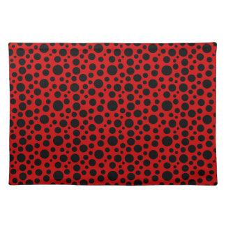 Black Circles w/Dark Red Placemat