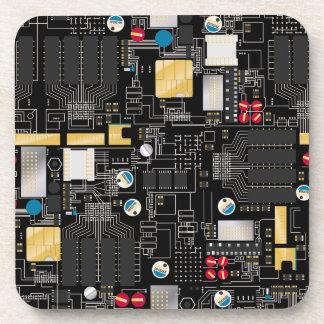 Black circuit board coaster