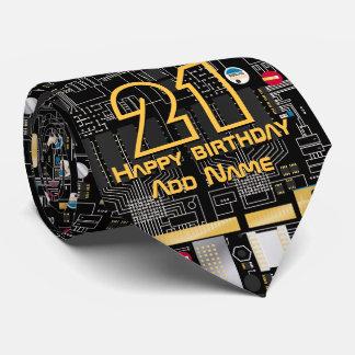 Black circuit board tie