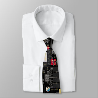 Black circuit board tie