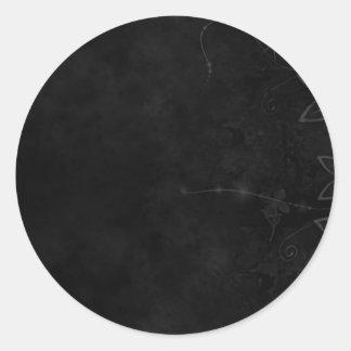 Black Classic Round Sticker