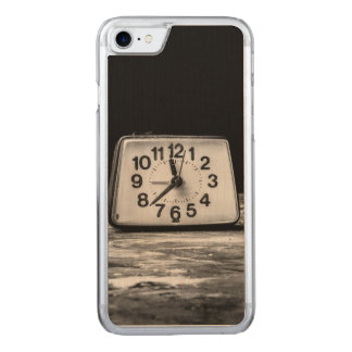 Black clock carved iPhone 7 case