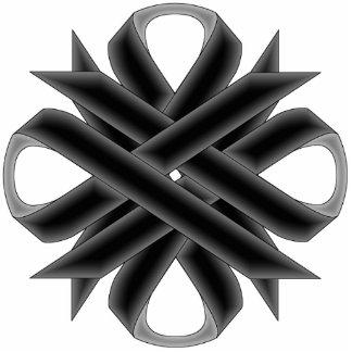 Black Clover Ribbon Photo Sculpture Key Ring