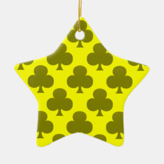 Black Club Pattern Ceramic Ornament