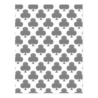 Black Club Pattern Post Cards