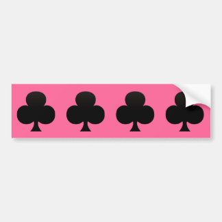 Black Club - Suit of Gambling Cards Bumper Sticker
