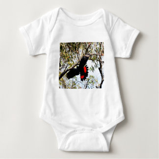 BLACK COCKATOO IN FLIGHT RURAL AUSTRALIA BABY BODYSUIT