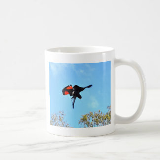 BLACK COCKATOO IN FLIGHT RURAL AUSTRALIA COFFEE MUG