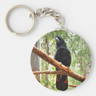 BLACK COCKATOO QUEENSLAND AUSTRALIA KEY RING