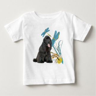 Black Cocker Spaniel & Blue Dragonflies Baby T-Shirt