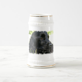 Black Cocker Spaniel Dog Beer Stein