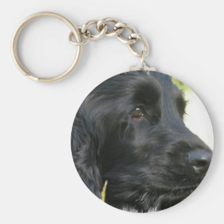 Black Cocker Spaniel Dog Keychain
