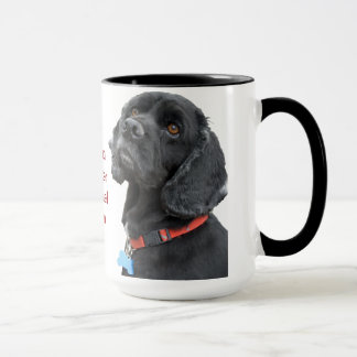 Black Cocker Spaniel Head Mug