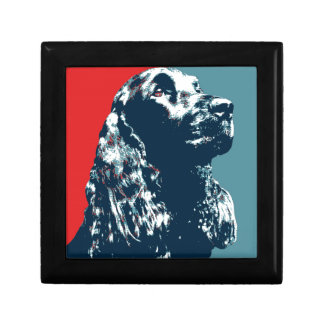 Black Cocker Spaniel Hope Dog Pop Art Small Square Gift Box