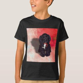 Black Cocker Spaniel Puppy - Abby T-Shirt