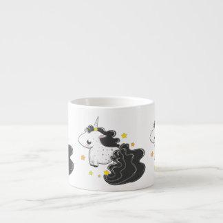 Black color cartoon unicorns with stars baby mug espresso mugs
