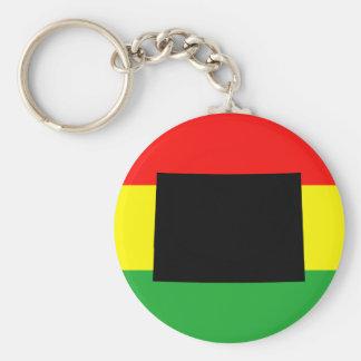 Black Colorado on Rasta Colors Key Ring