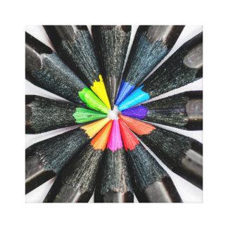 Black Colored Pencils Canvas Print
