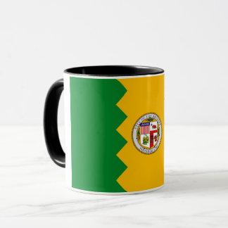 Black Combo Mug with flag of Los Angeles, USA