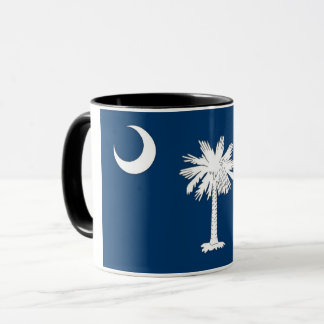 Black Combo Mug with flag of South Carolina, USA