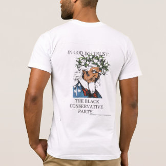 Black Conservative T-Backside. T-Shirt
