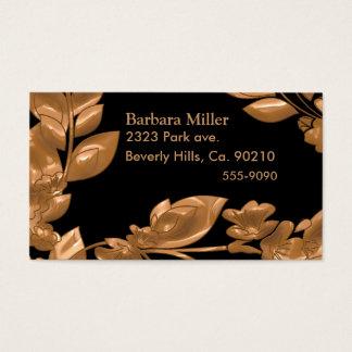 Black & Copper Garden Business Card