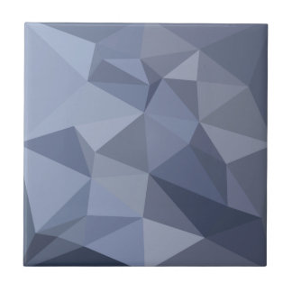 Black Coral Blue Abstract Low Polygon Background Small Square Tile