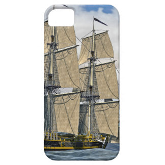 Black Corvette Ship Sailing on a windy day iPhone 5 Case