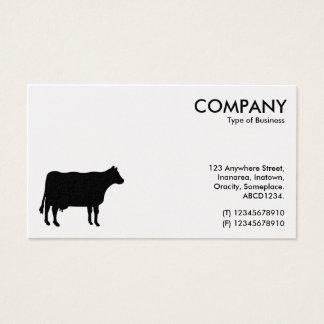 Black Cow Symbol - White (Platinum)