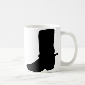 Black Cowboy Boot with Spurs Mugs