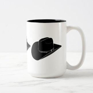 Black cowboy hat coffee mug