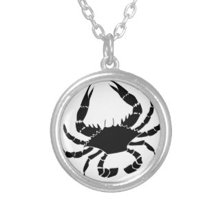 Black Crab Silver Plated Necklace