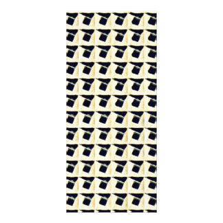 Black Cream Abstract Square Pattern Custom Rack Card