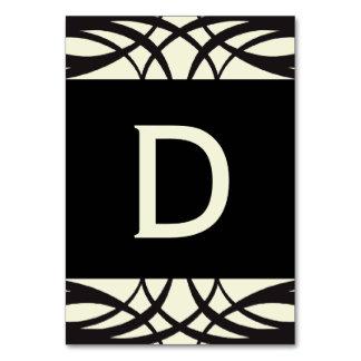 Black Cream Art Deco Wedding Banner Cards