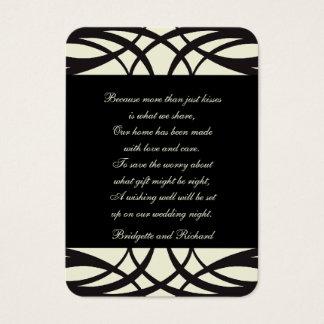 Black Cream Art Deco Wedding Seating Cards
