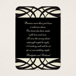 Black Cream Art Deco Wishing Well Cards