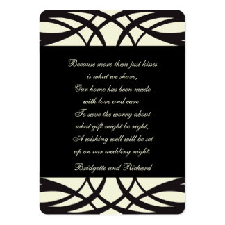 Black Cream Art Deco Wishing Well Cards Pack Of Chubby Business Cards