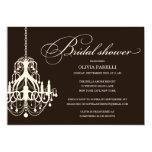BLACK & CREAM CHANDELIER | BRIDAL SHOWER INVITE 13 CM X 18 CM INVITATION CARD