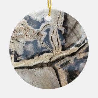 Black & Cream Crystal Pattern Ornament