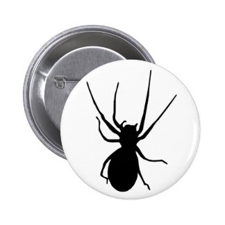 Black Creepy Spider Button