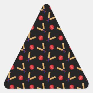 Black cricket pattern sticker